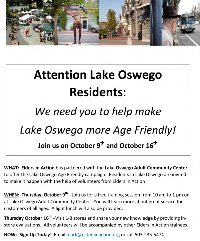 Lake Oswego Resident flyer
