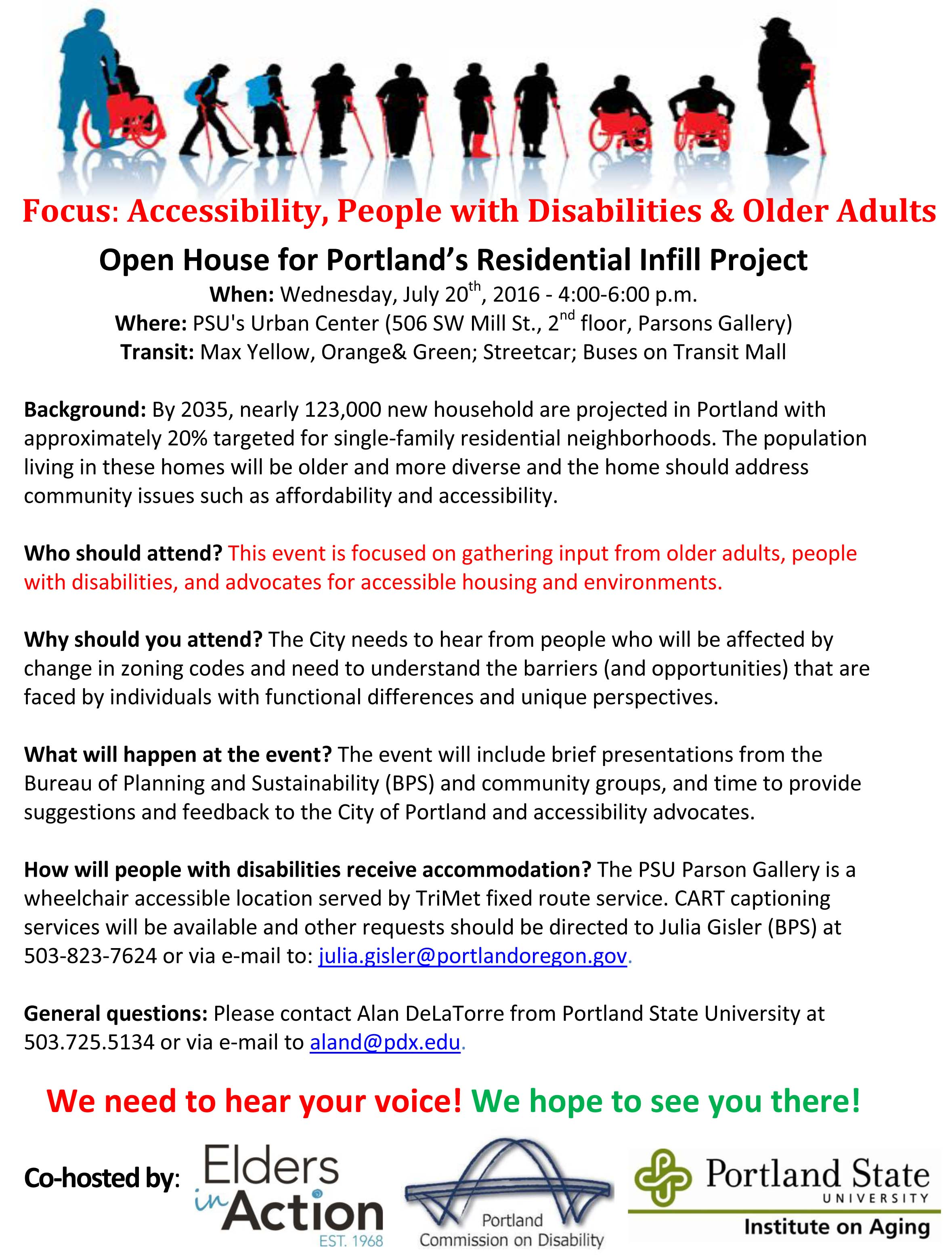 Residential Infill Project Open House_Accessibility_PSU_07 20 16
