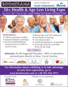 BOOMERAMA - 50+ Health & Age Less Living Expo @ Airport Holiday Inn/Columbia Convention Center | Portland | Oregon | United States